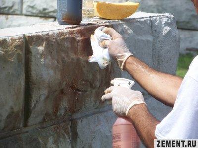 Покраска искусственного камня своими руками