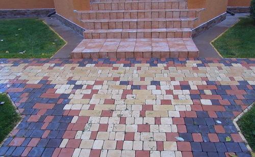 плитка тротуарная своими руками формы